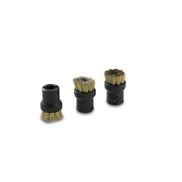 Round brushes, brass bristles